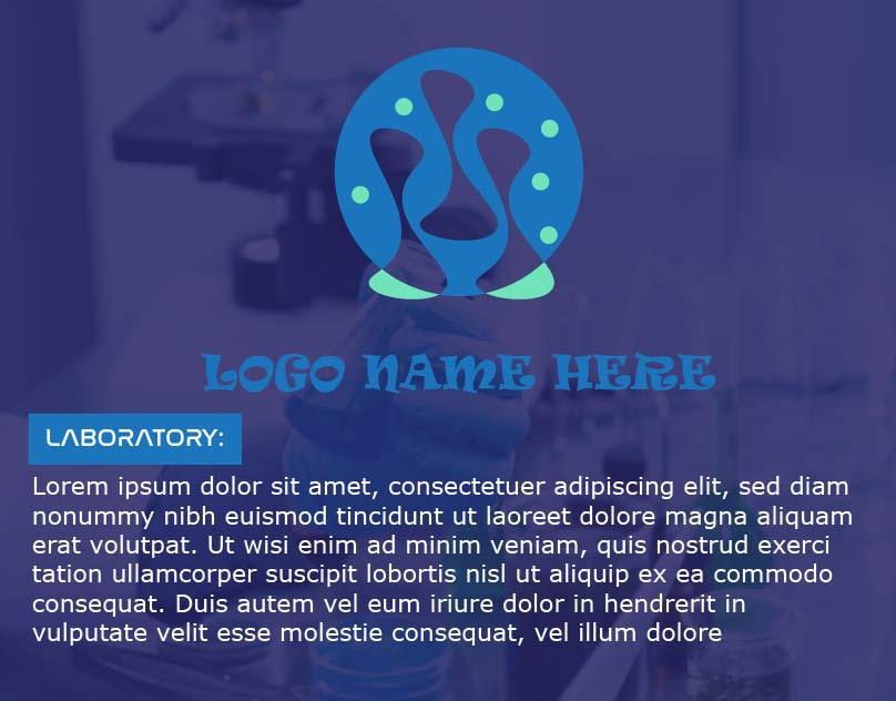 lab logo laboratory Creative Log cartoon logo infinity rounded shape logo science