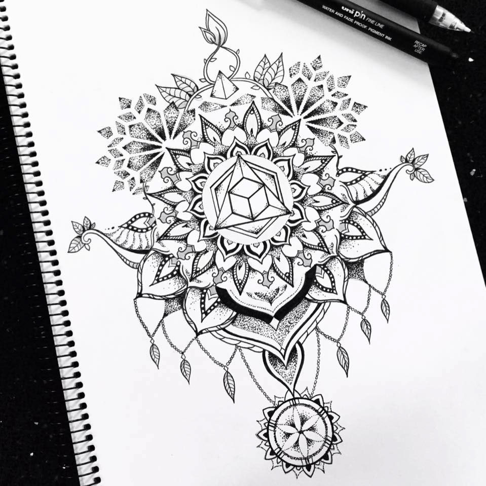 Geometric Designs Tattoo Neck: Sacred Geometry Neck/back Tattoo Design On Behance