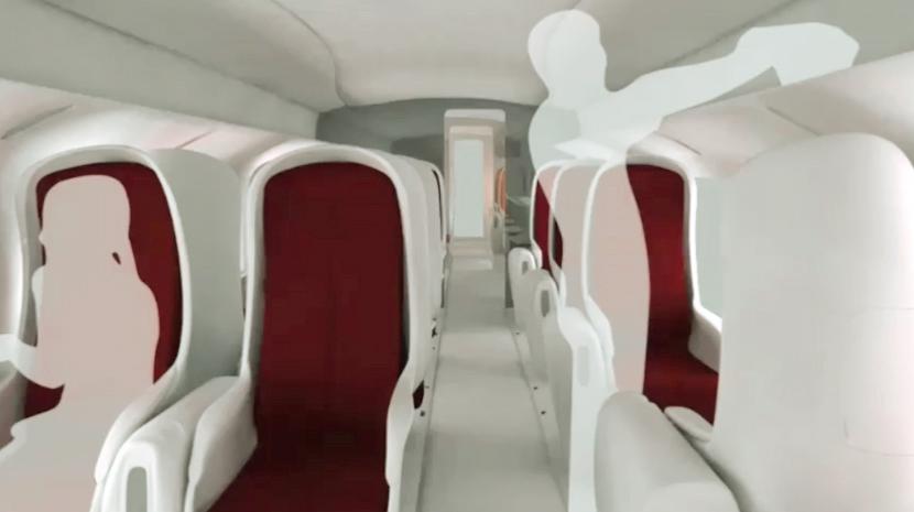 Agv Train Interior Concept 2009 On Behance