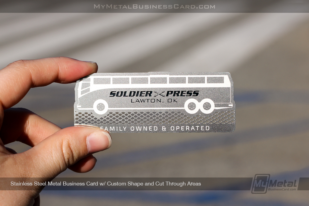 Custom Bus Shaped Stainless Steel Business Card on Behance
