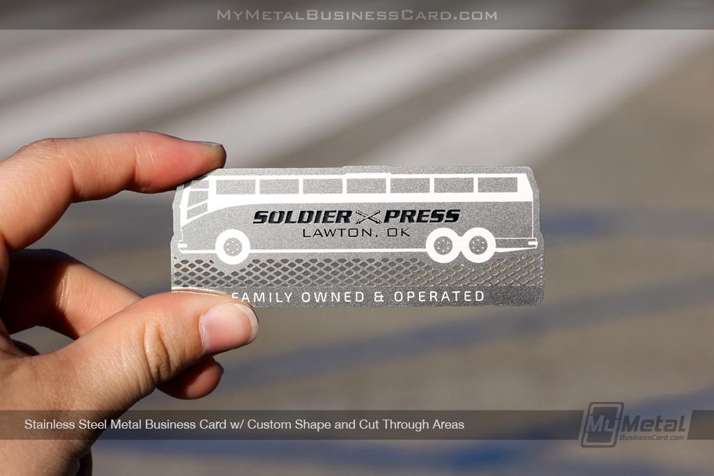 Custom bus shaped stainless steel business card on behance colourmoves