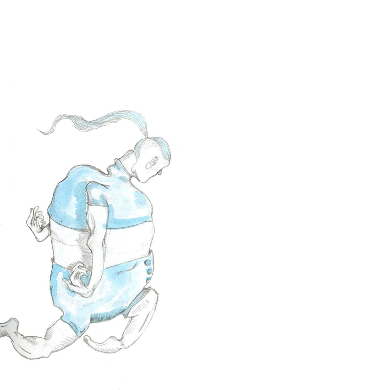 me blue fat elegance natural DANCE   light selfportrait