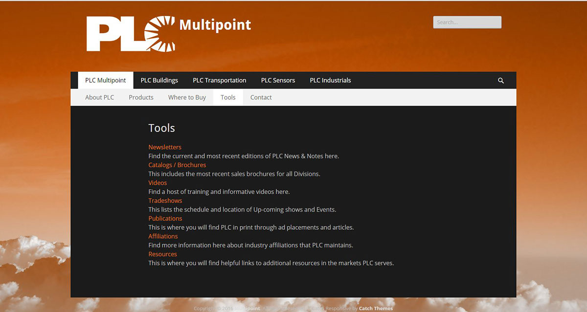 PLC Multipoint WordPress Site