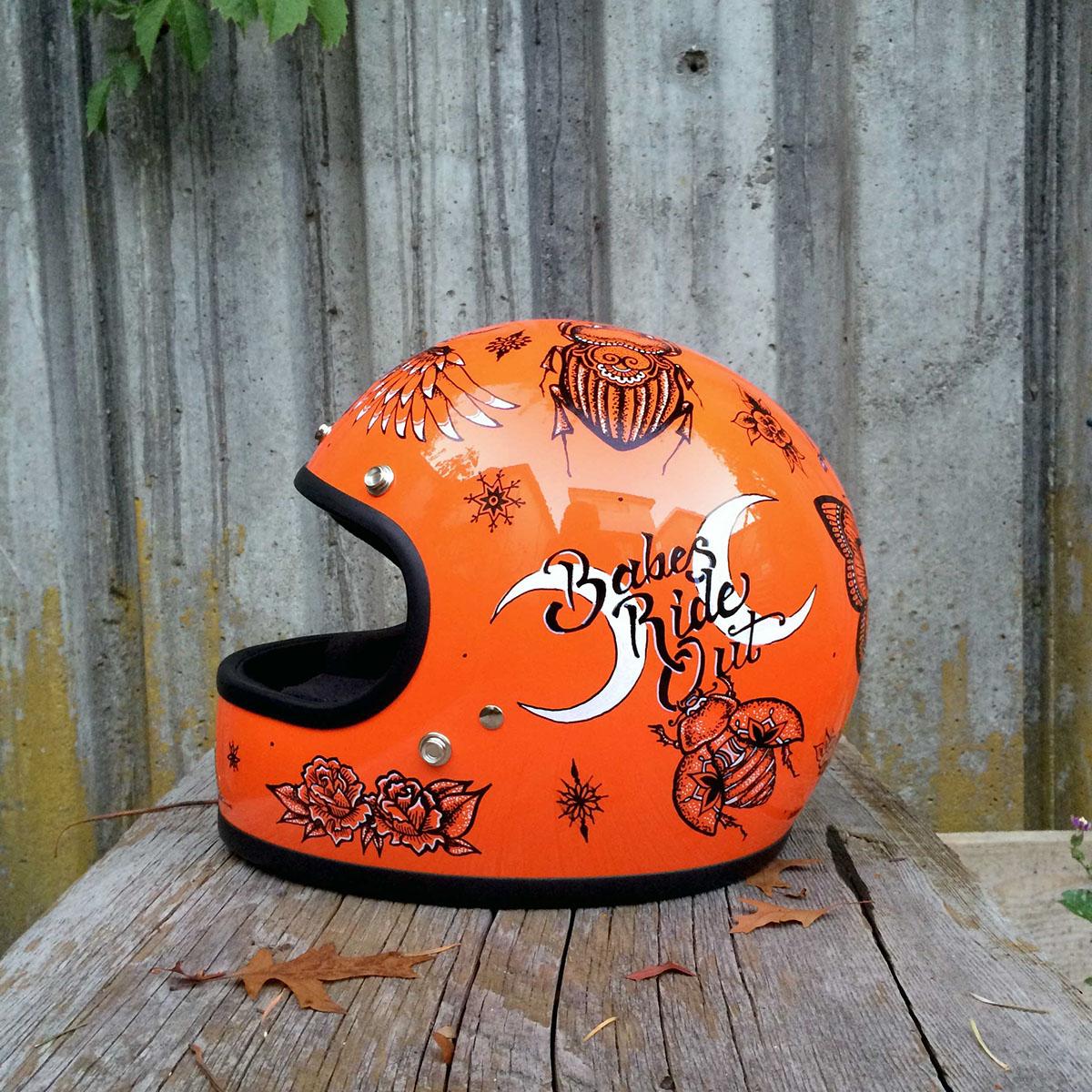 helmet art custom helmet motorcycle helmet Motorycycl Art Mandala Insects