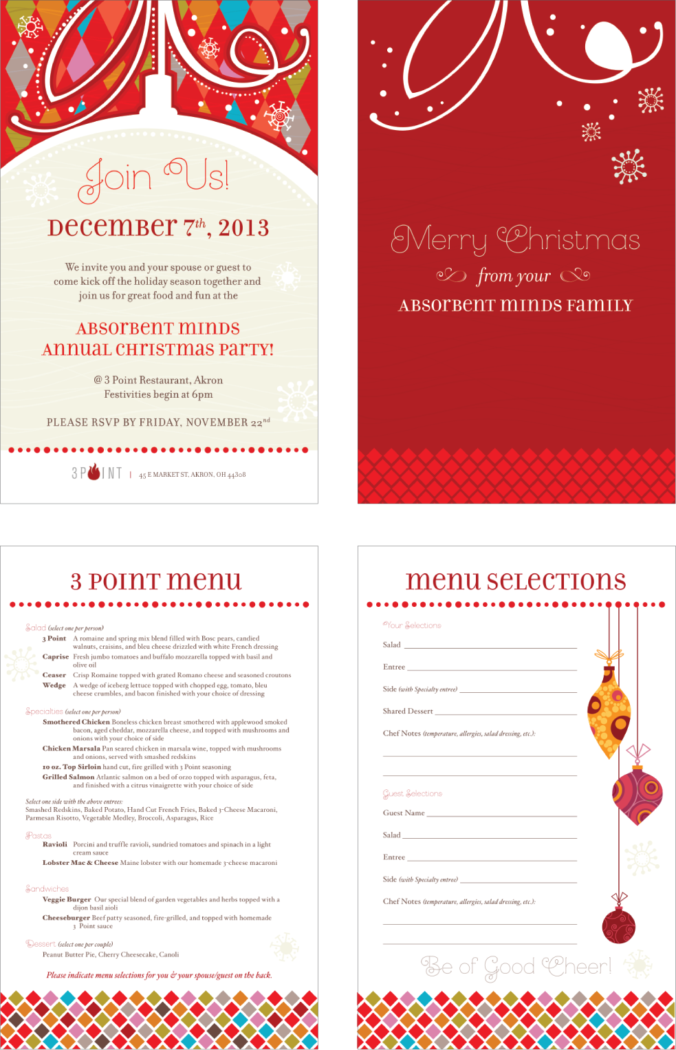 AMMS Staff Holiday Party Invitations on Behance