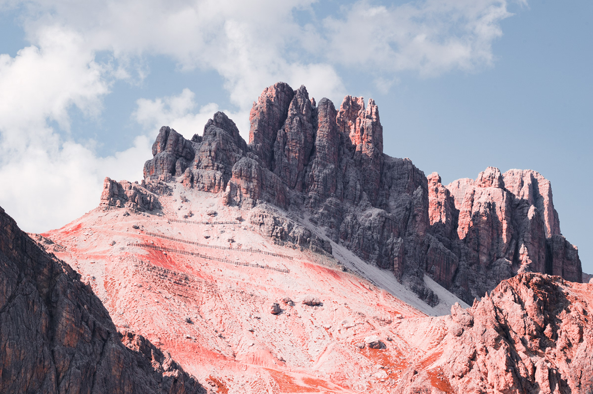 abstract alpine mountains Digital Art  experimental photography infrared infrared photography landscape photography Minimalism structures the alps