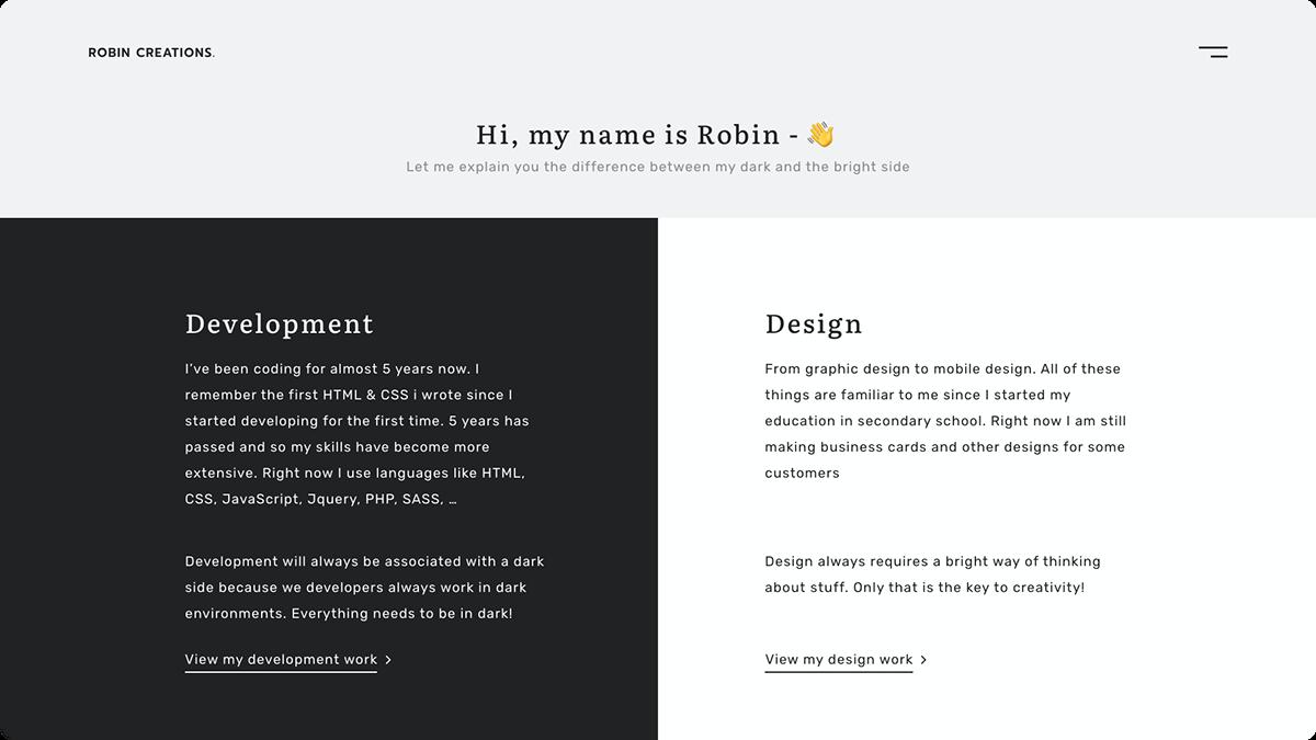 portfolio Website personal UI ux
