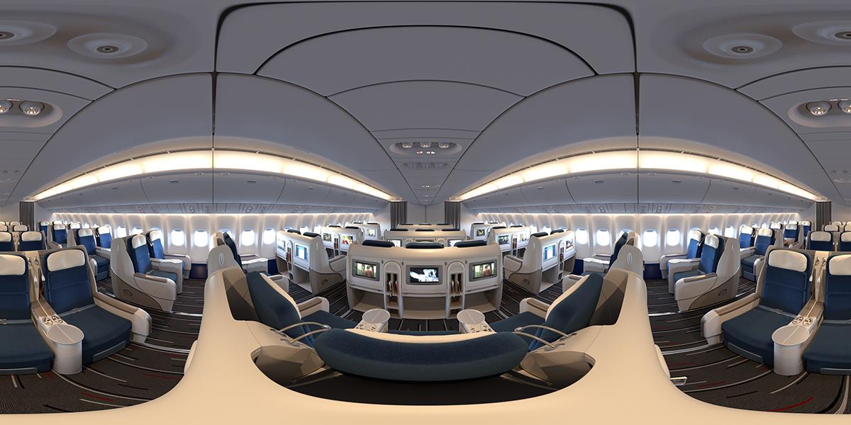 Boeing 777 Aircraft Interior On Behance