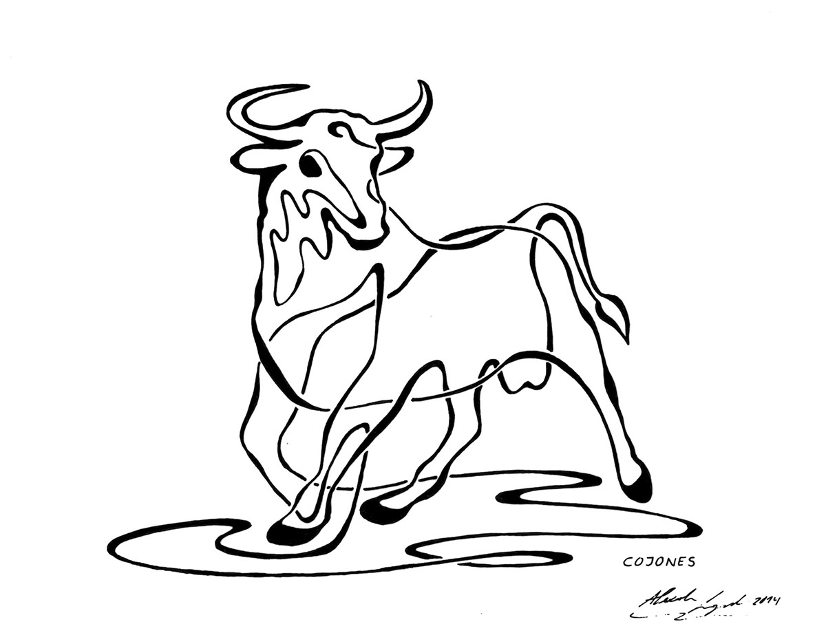 Single Line Drawings Of Animals : One line animals on behance