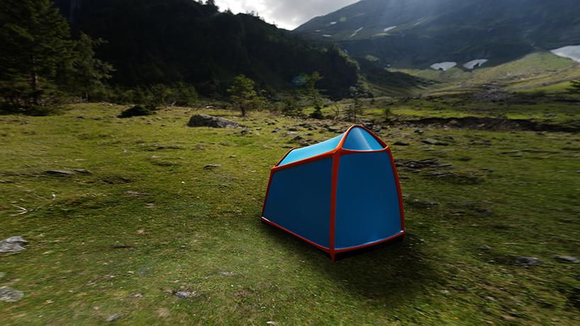 tent Outdoor lightning shelter bolt thunderstorm storm camping camp mountains thunderbolt design industrialdesign ID