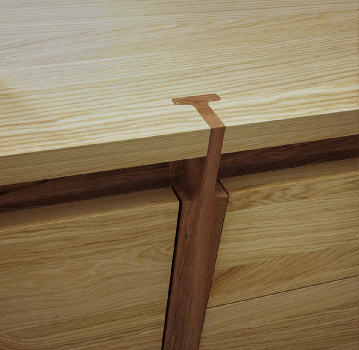 Detail Wood Assemblage Buffet Roche Bobois On Behance