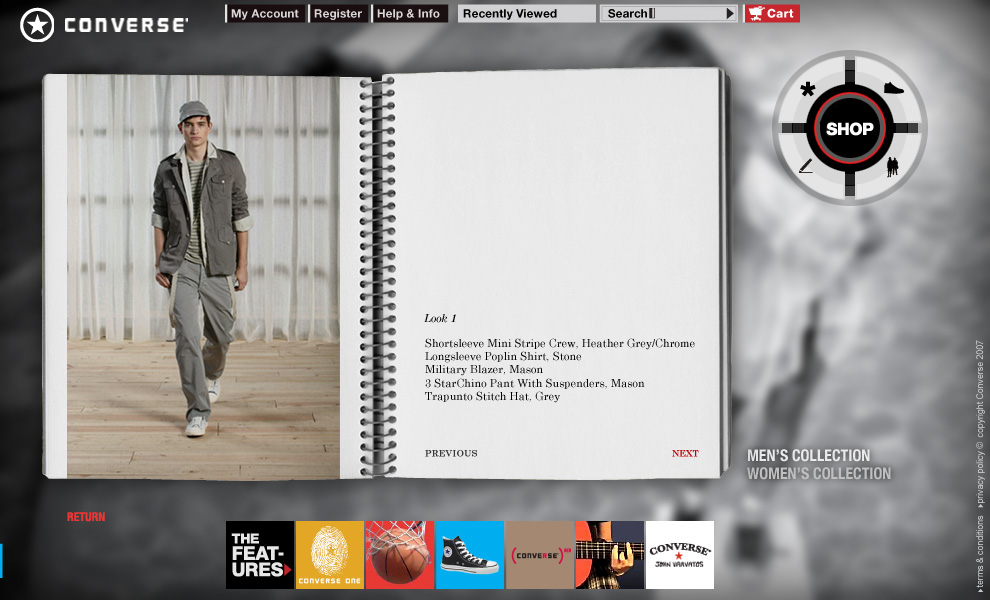 converse shoes Flash ILLUSTRATION  Layout Ecommerce