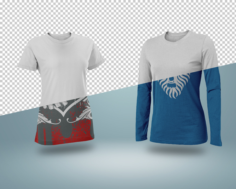t-shirt psd Mockup template clothes freebie product realistic free shirts