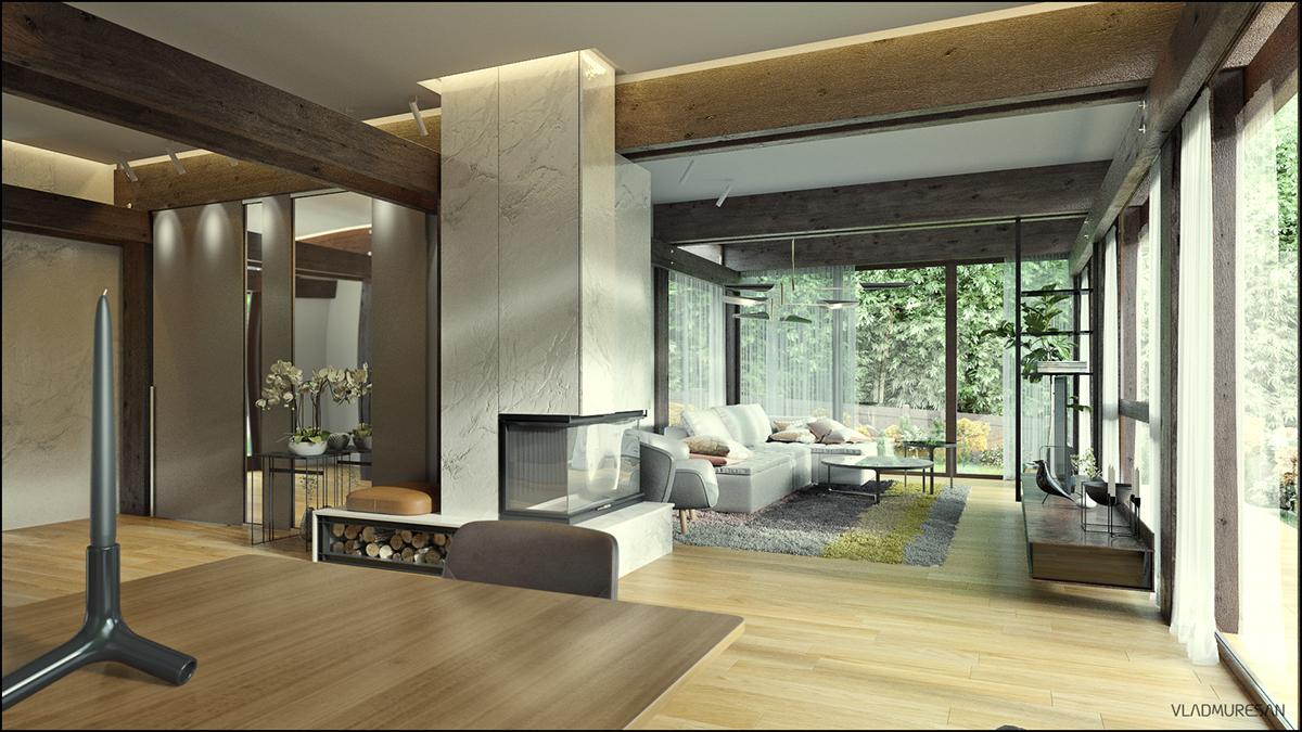 Exterior: Interior Design For Huf Haus _ CGI On Behance