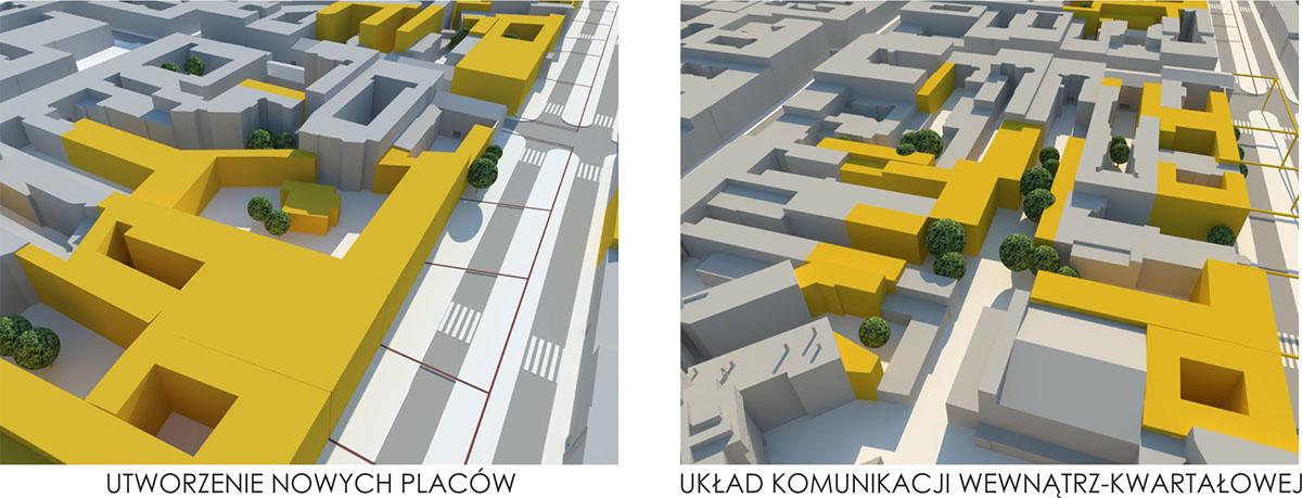 urbanism   Urban Design revitalisation city lodz poland Master city center Highstreet