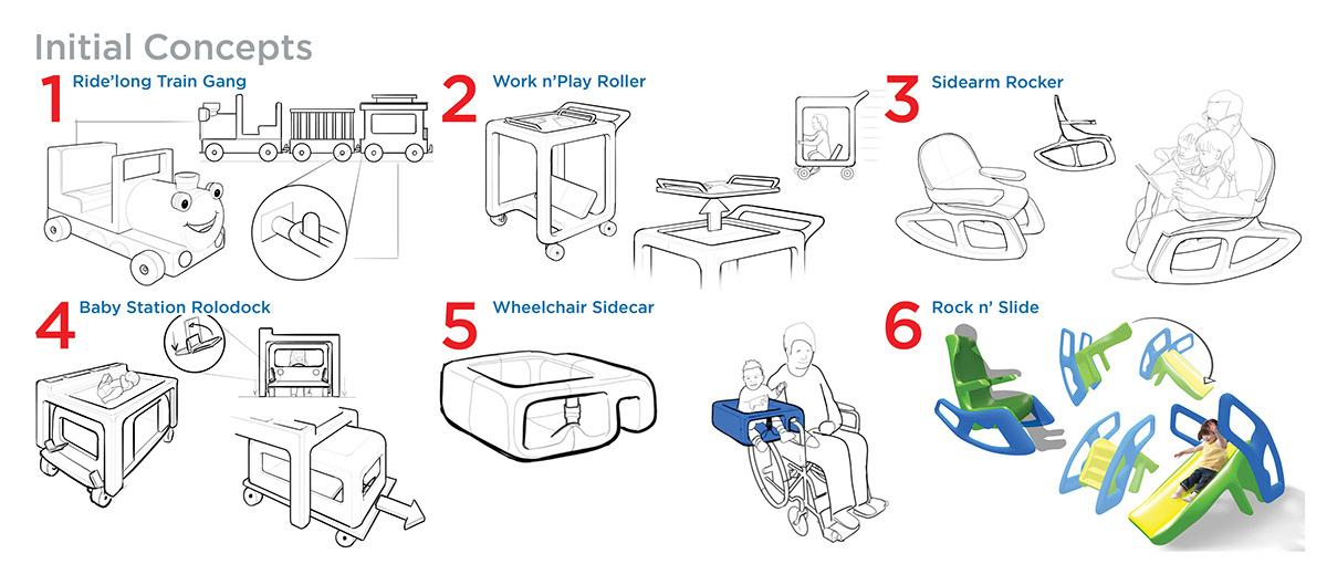 Adobe Portfolio furniture gravity sketch little tikes Oculus rocking chair slide toy design  Virtual reality vr