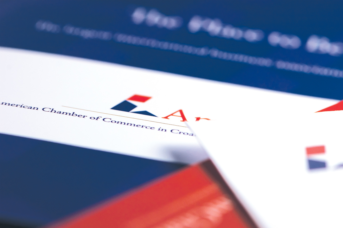 American Chamber of Commerce in Croatia, branding on Behance