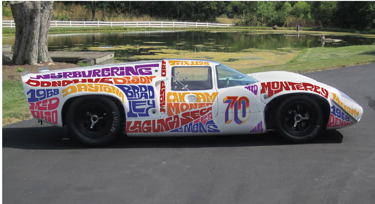 lettering typography   car art art Racing Car classic car lolat70 sketch