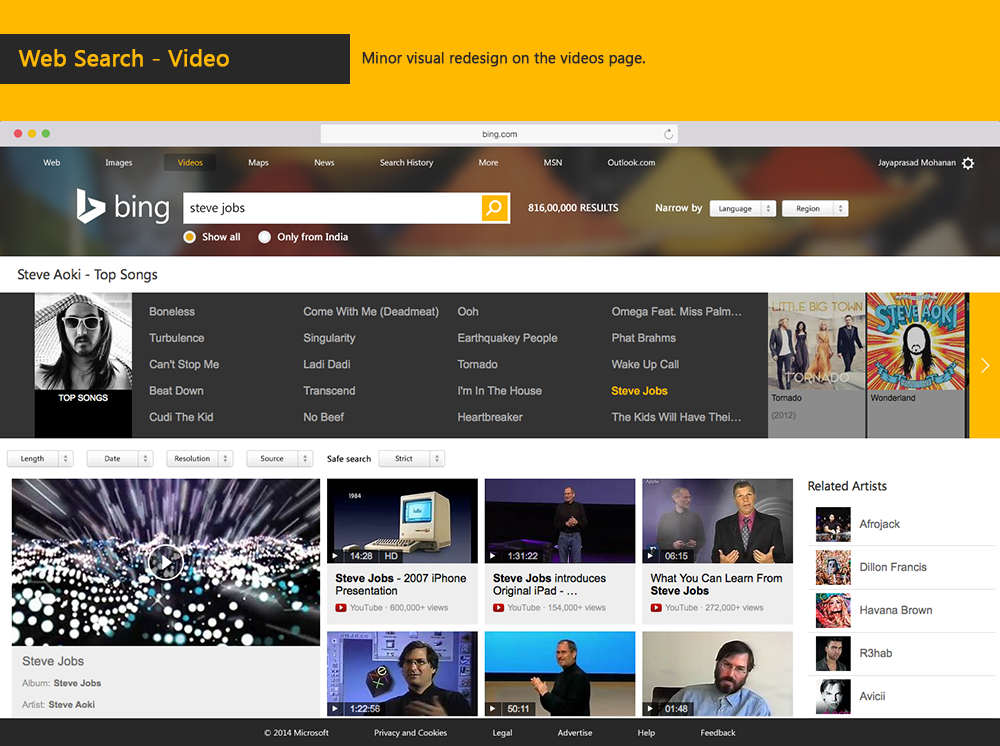 Bing Search Engine - Redesign