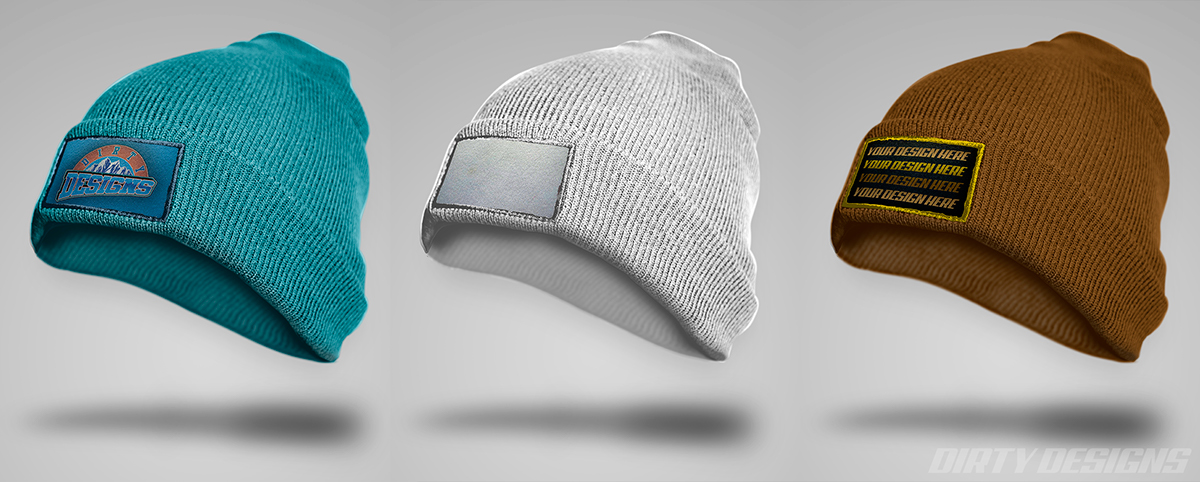 Free Hd Beanie Embroidered Patch Psd Mock Up On Student Show