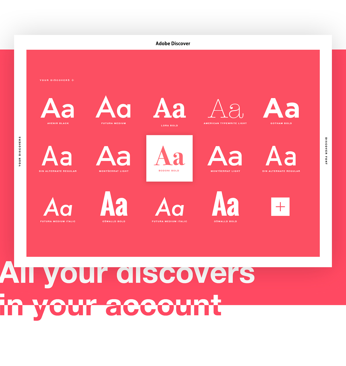 Adobe Discover  Find your font  on Wacom Gallery