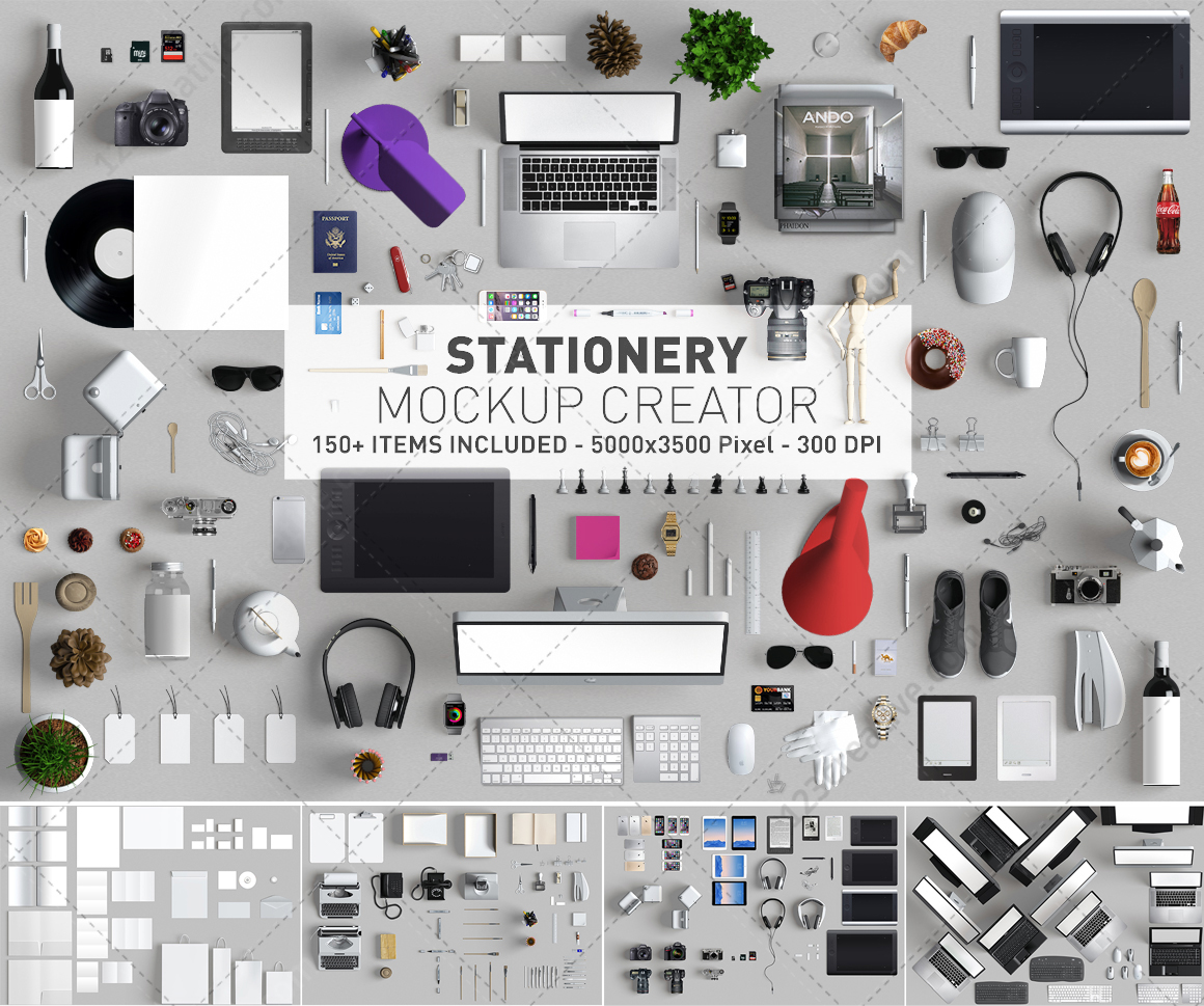 stationery mockup creator mockup scene generator on behance