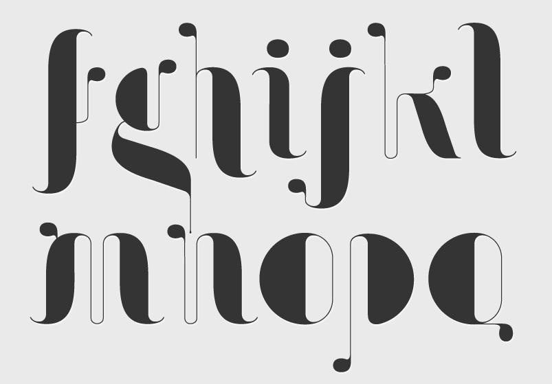 shapes Art Noveau drops art type modern Retro Ligatures font Display free Original hand lines Beautiful