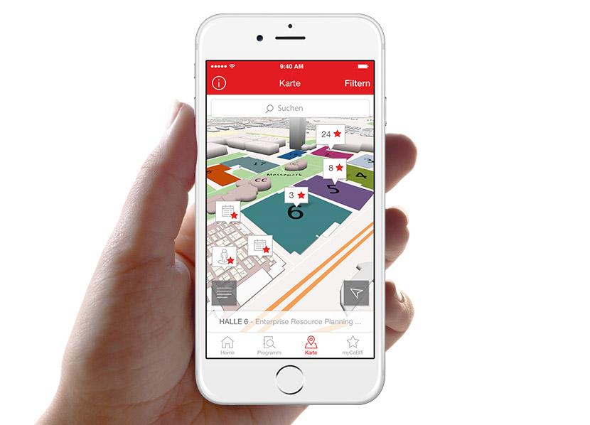 app beacon cebit Fair Messe Deutsche Messe