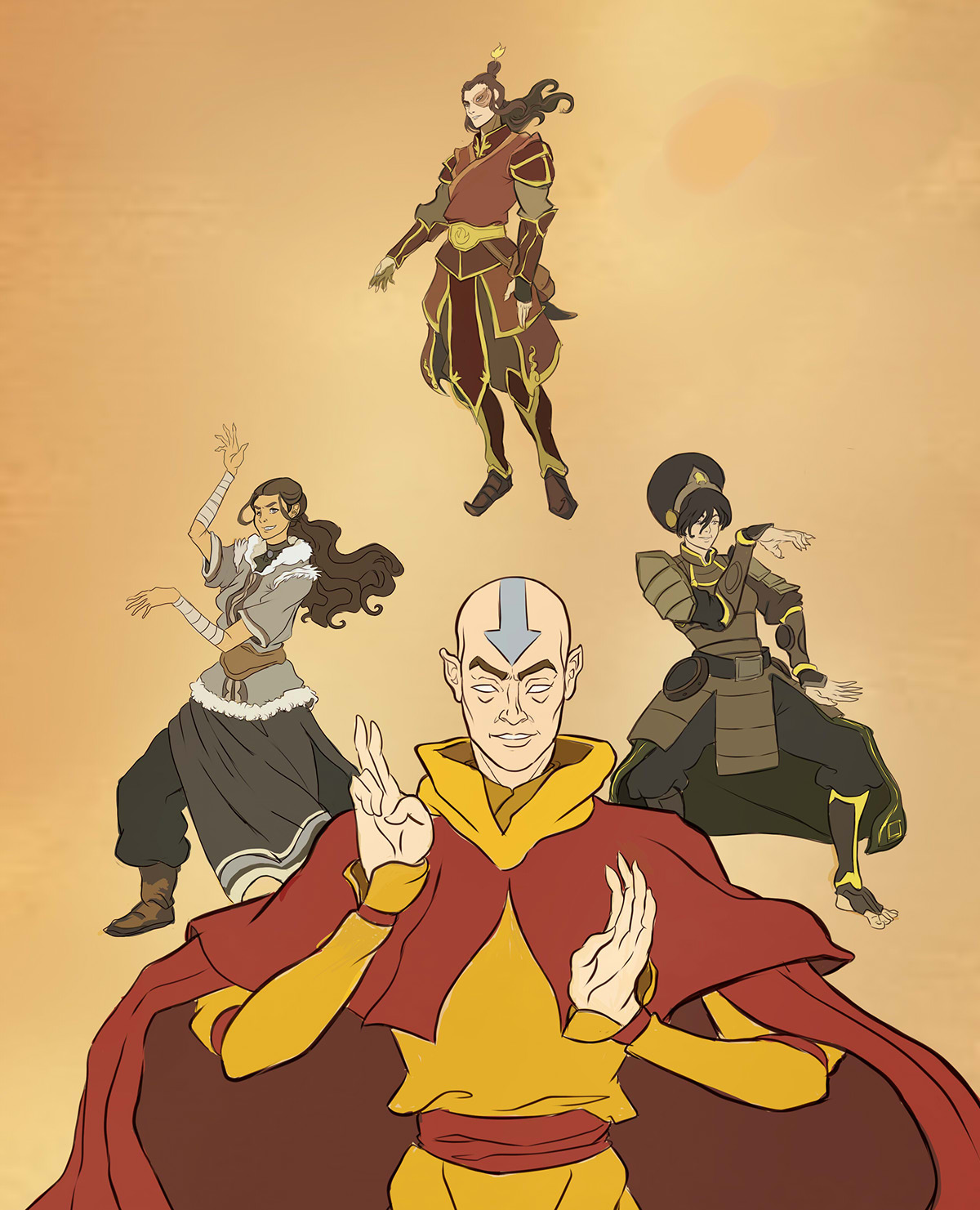 Avatar Art: THE LAST AIRBENDER. Fan Art Comission. On Behance