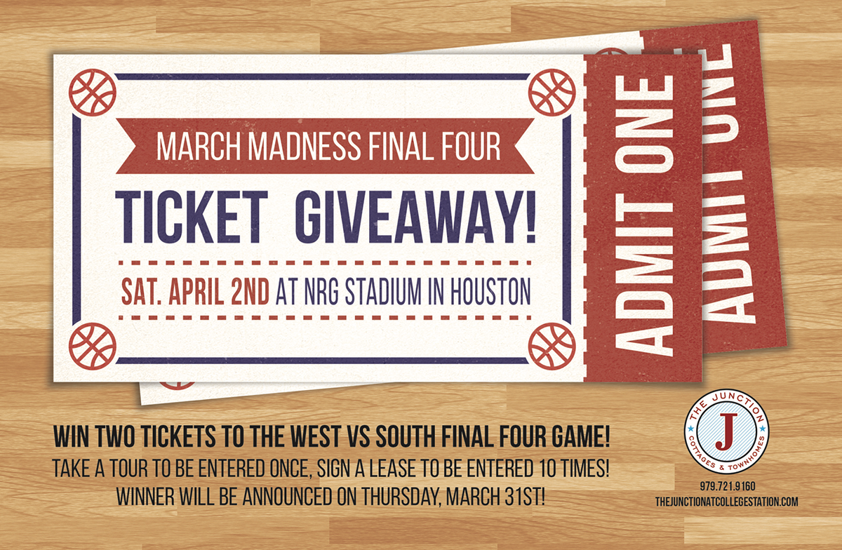 march madness ticket giveaway flyer on behance