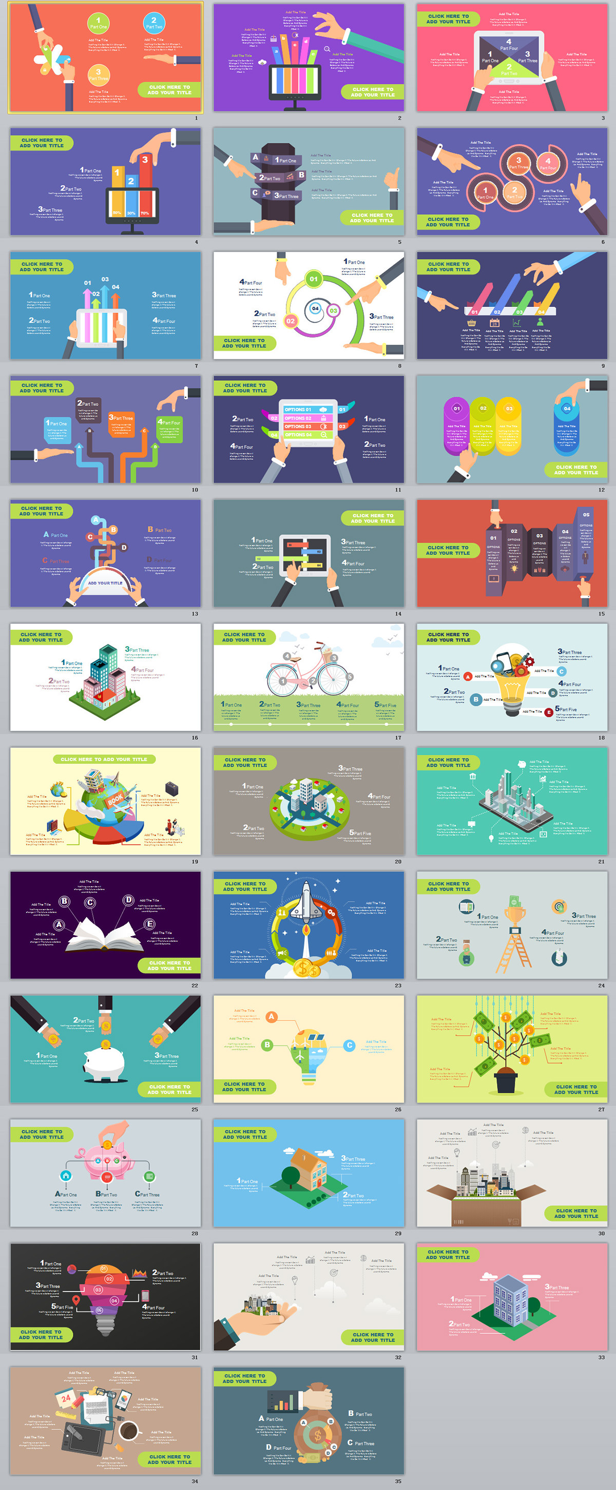 35 Multicolor Cartoon Infographics Powerpoint Template On Behance