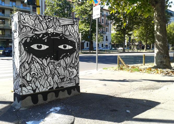 black White streetart art sketch face Black&white ink