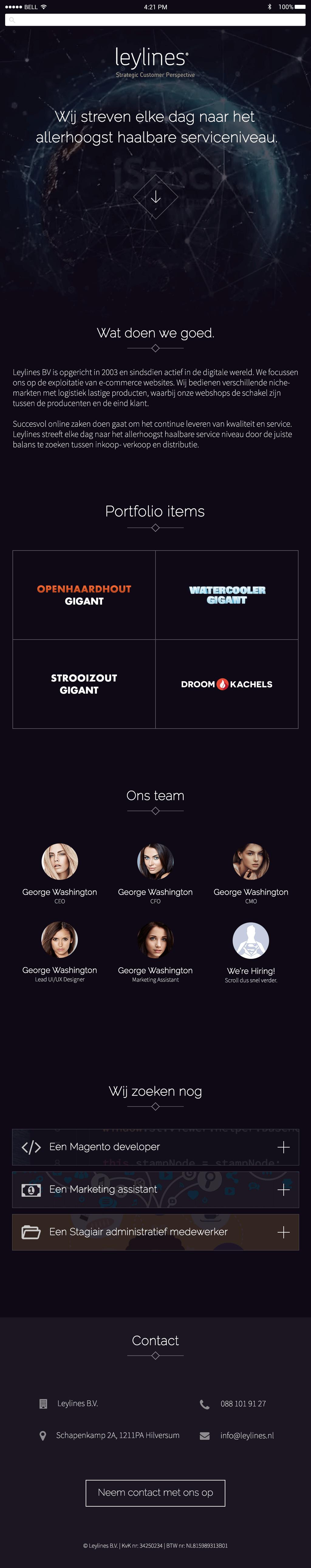 design Website UI digital company website