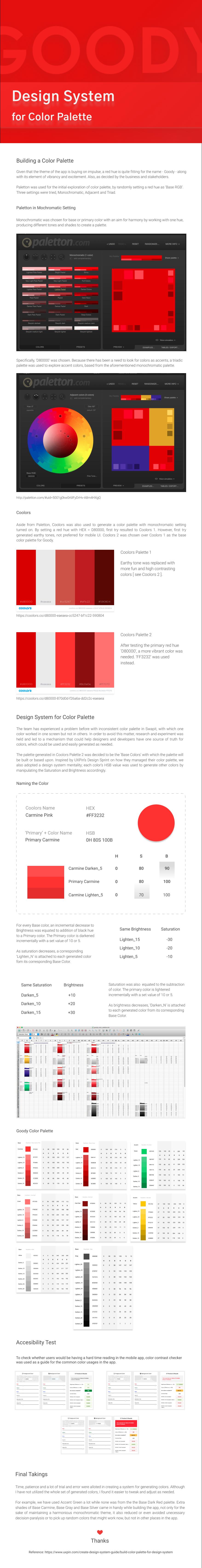 design system color palette goody UI/UX