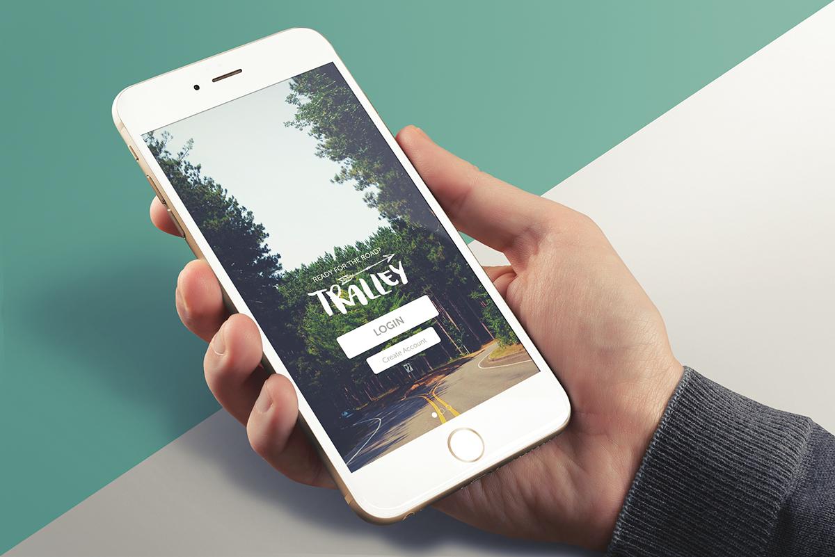 adobexd #madewithAdobeXD Tralley app design Travel App application UI ux