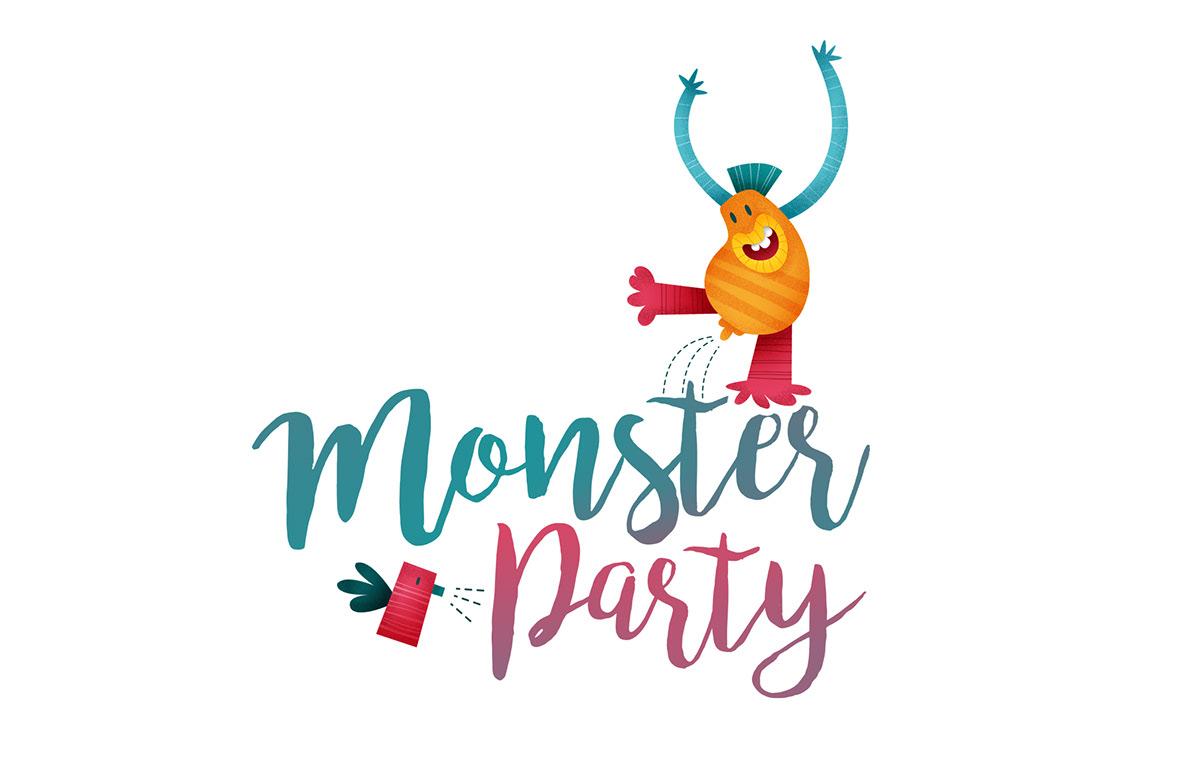 ilustracion monster party photoshop Illustrator