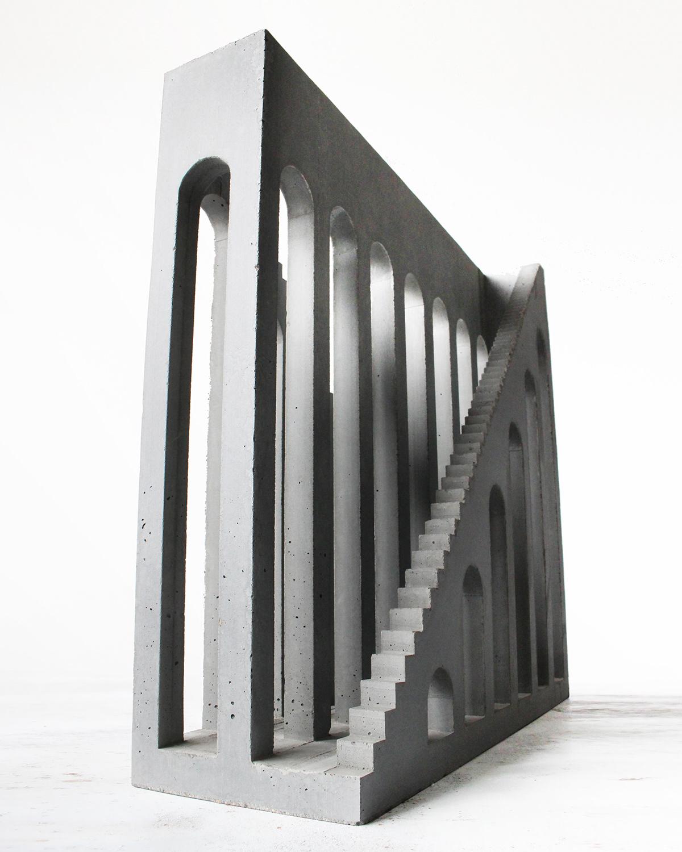 arches architectural Brutalism Brutalist chirico concrete escher modern stairs stairway