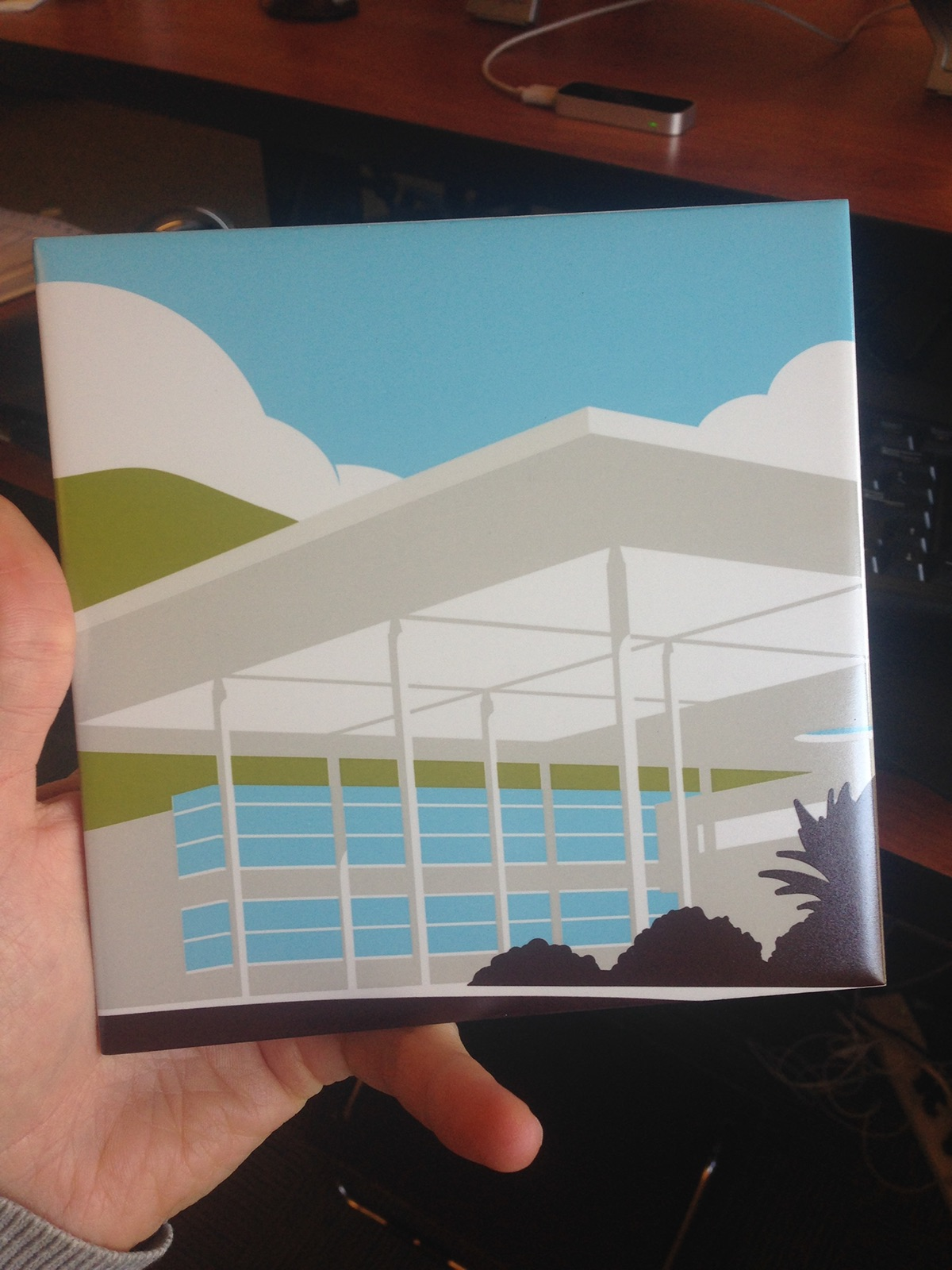 Promotional limited edition lapel pin ceramic tile Landmarks