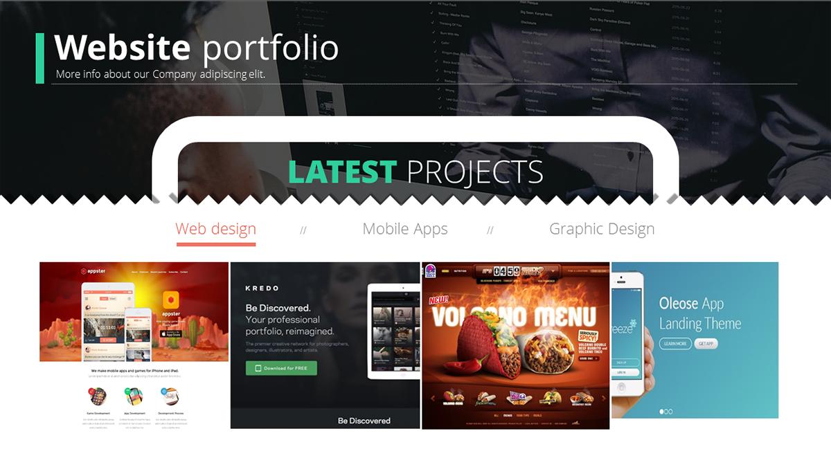 Website Powerpoint Template