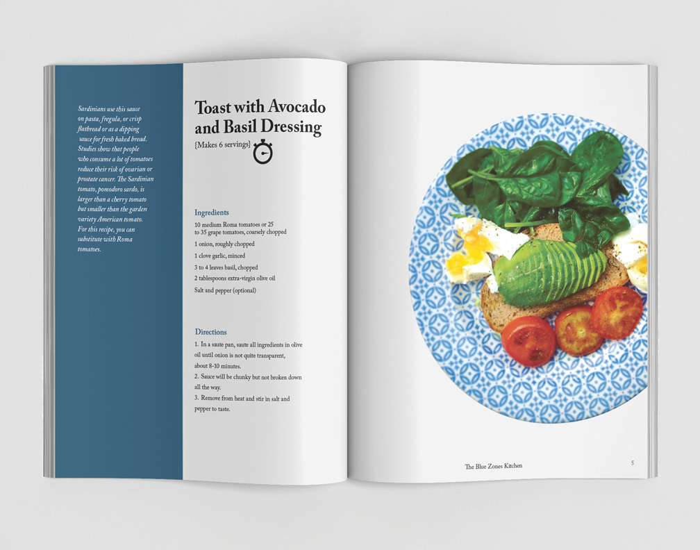 The Blue Zones Kitchen Cook Book On Behance
