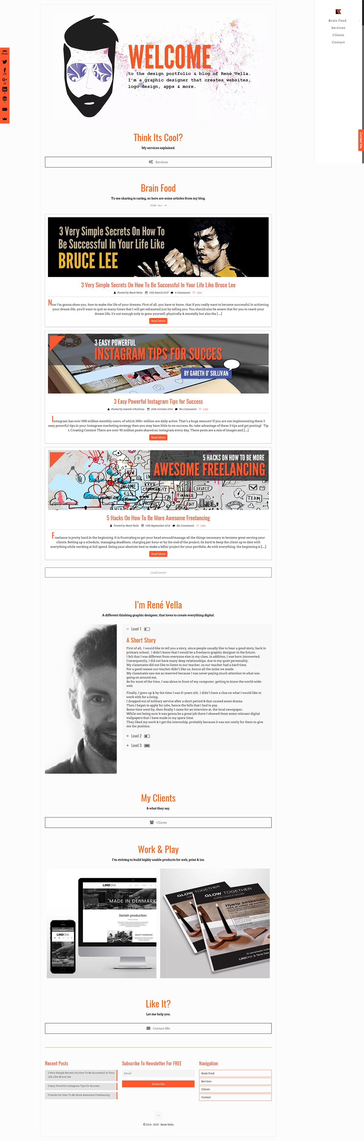 Web Design  Web designer graphic Graphic Designer one page design portfolio Blog