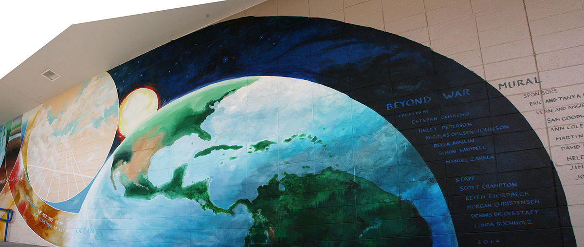 eco paint esteban Costa Rica acrylic Mural canvas ecological University Oregon