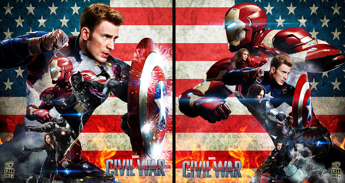 CAptain America Civil War:Fan Art on Behance