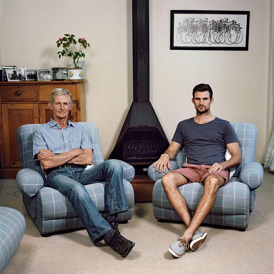 men masculinity portrait father son Gender genetics comparison Anthropology