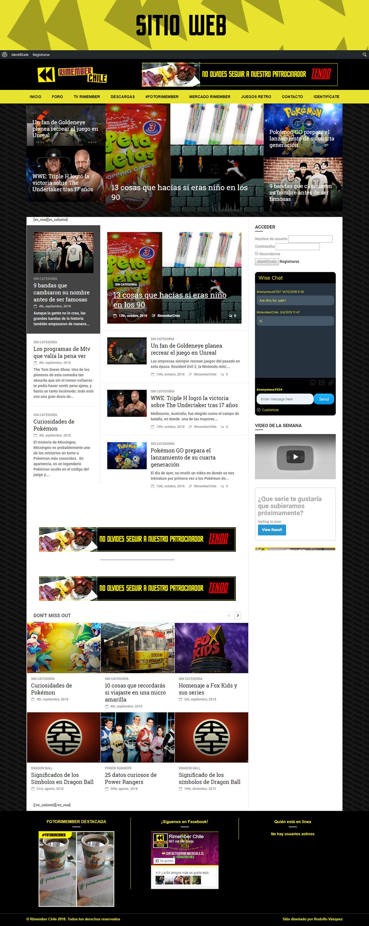 Retro oldschool Web photoshop wordpress Project remember chile recuerdos nostalgia