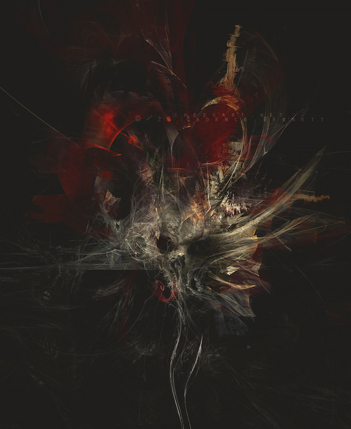 black metal dark dark surrealism death metal fractals Metal art metal music mixed media skull