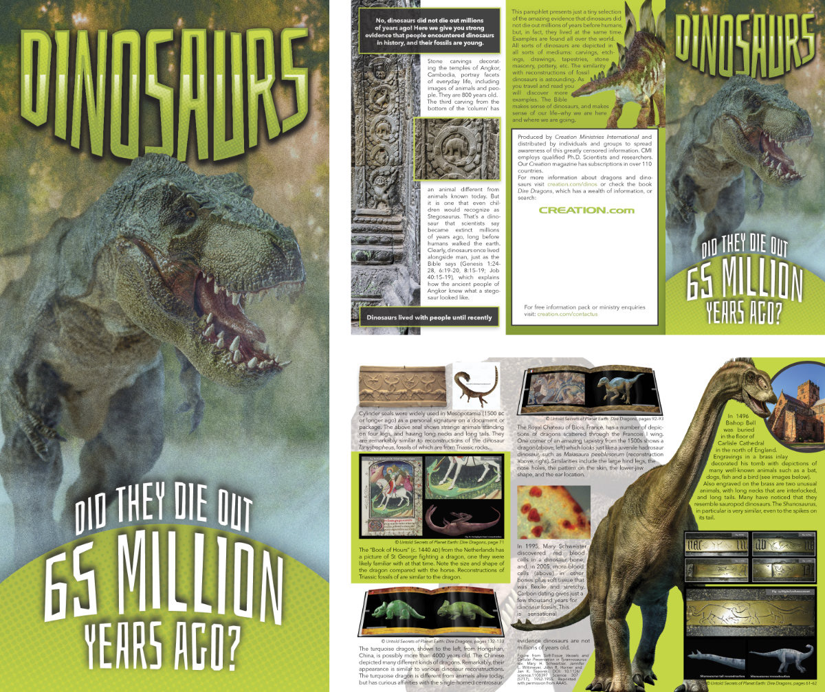 Did Dinosaurs Die Out' pamphlet on Behance