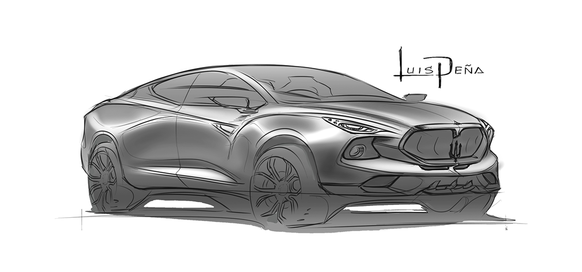 Sketch Maserati Levante Suv On Behance