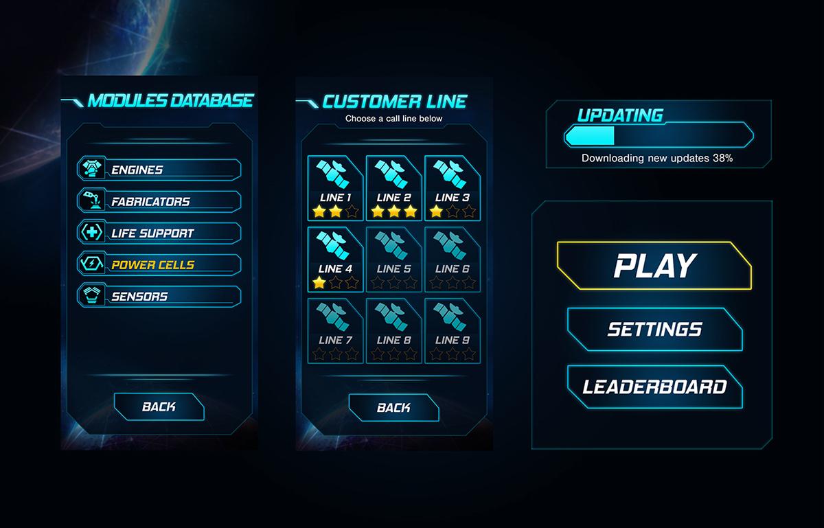 Simple Sci Fi Game Ui Design On Behance