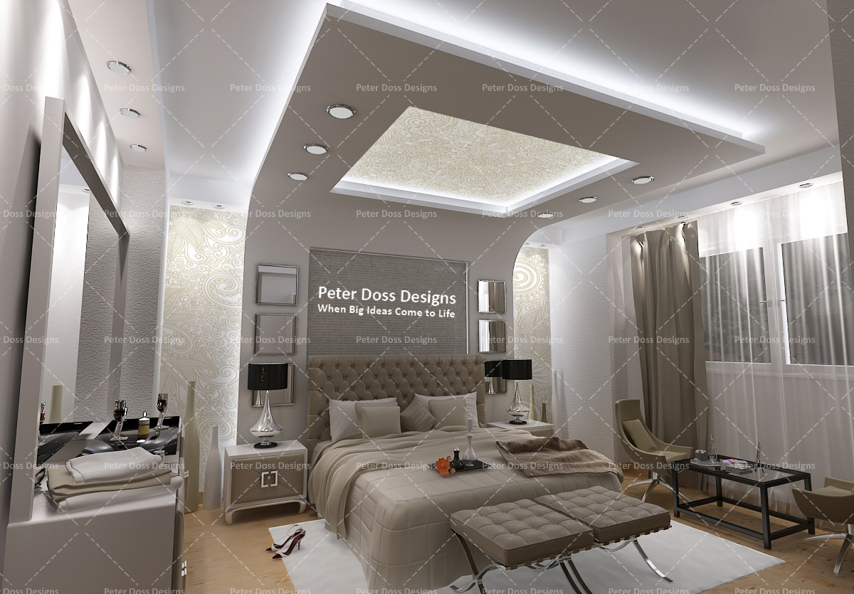 Contemporary Master Bedroom On Behance